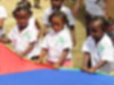 Children playing at Amistad