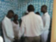 Baptising in Padre Las Casas