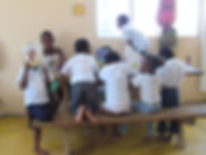 Children being taught at Amistad