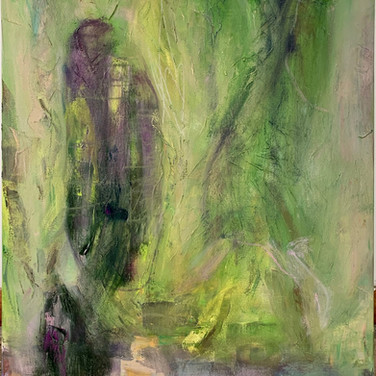 Sleeping Garden, 40 x 30, Oil on canvas