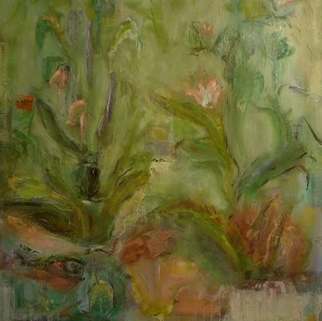 Johns Vegetable Garden, 48x36, Oil on canvas