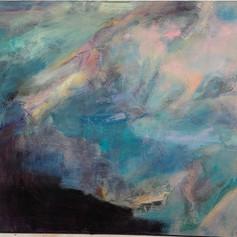 Poseidon, 36 x 48, Oil on canvas