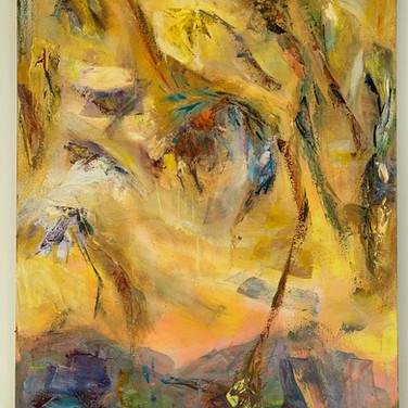 Sunflower Garden, 40x30, Oil on cavas