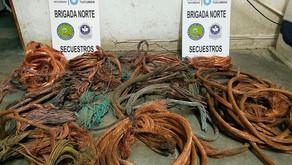Secuestran casi 70 kilos de cables de cobre por los robos a EDET