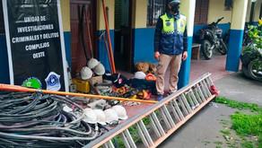 Secuestran evidencia por el robo de cables y transformadores