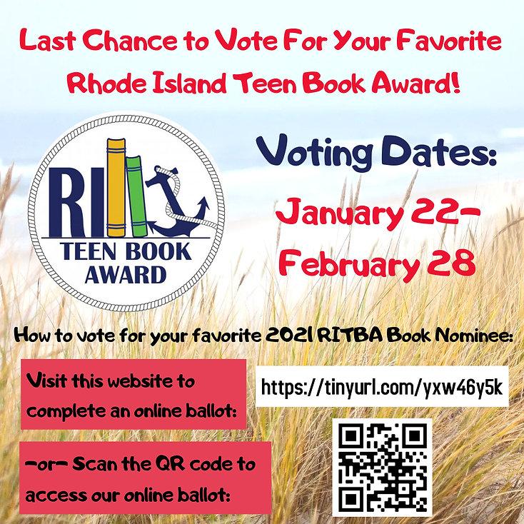 Last Chance RITBA 2021 Voting at JMS Lib