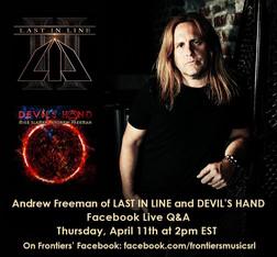 ANDREW FREEMAN – FACEBOOK LIVE – APRIL 11TH AT 2PM (EST)