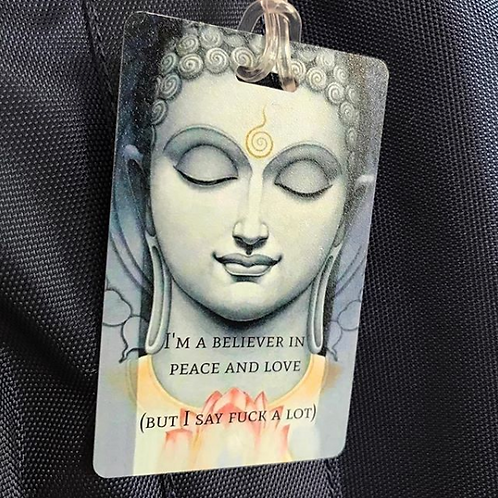 Peace Love Yoga Buddha Customized Name Identification Luggage Travel Bag Tag
