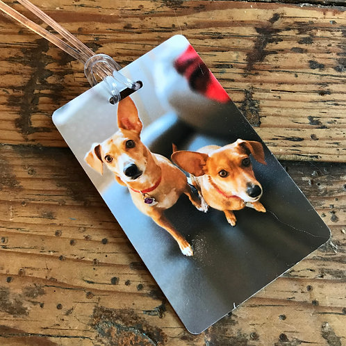 Personalized Photo Pet Carrier Tag Pets Dog Cat Rabbit Customized Bag Tag