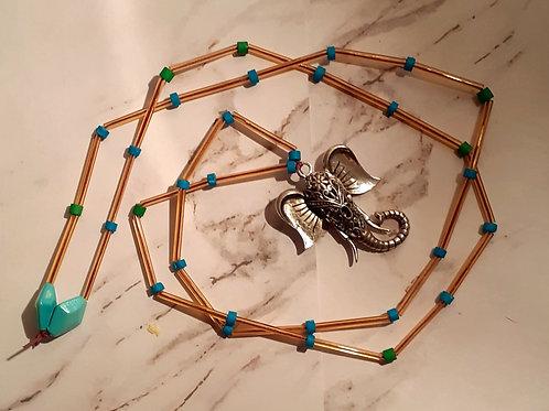 Boho long Elephant Necklace