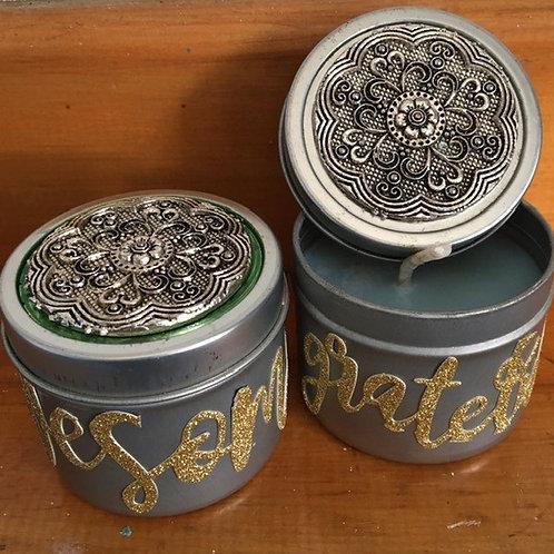 Mandala Candle Tin