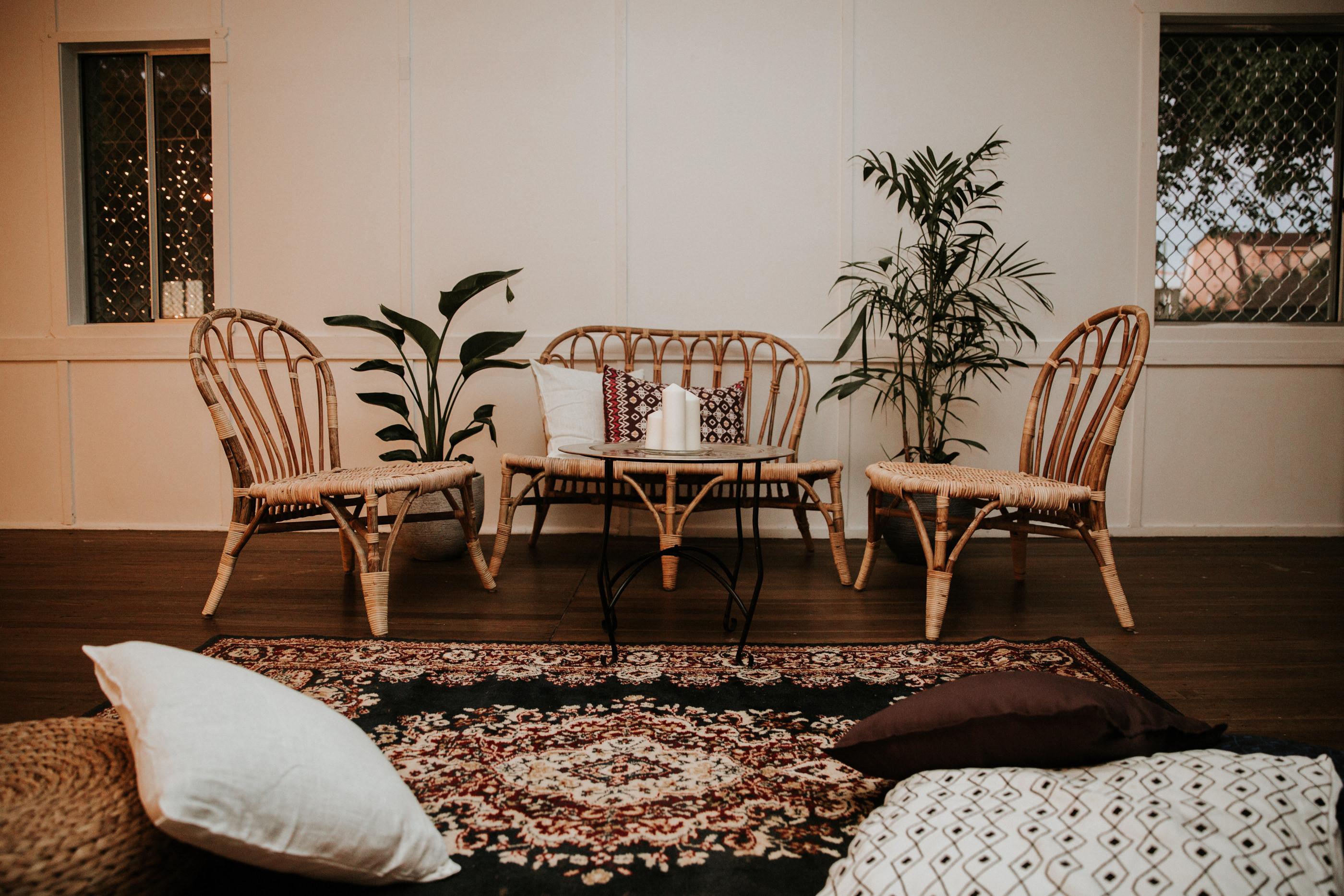 Rattan Lounge Set Hire