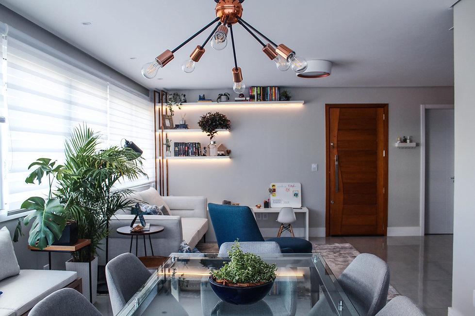 Sala de estar Luana e Genaro - SAH Arquitetura