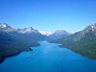 Flying Over Chilko Lake
