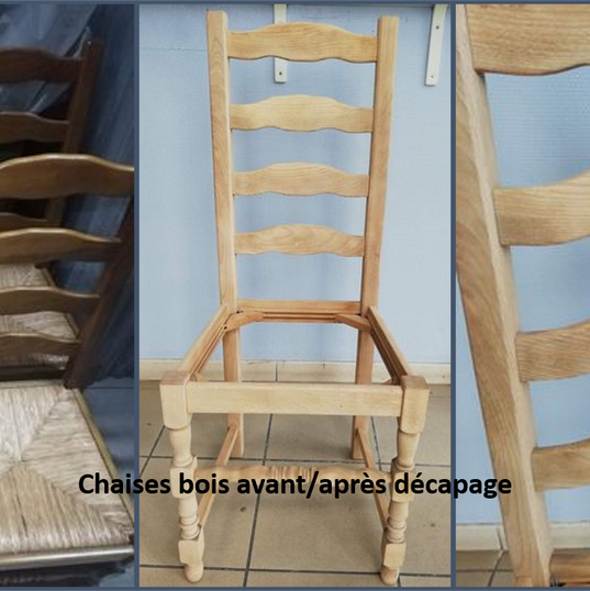 chaises bois