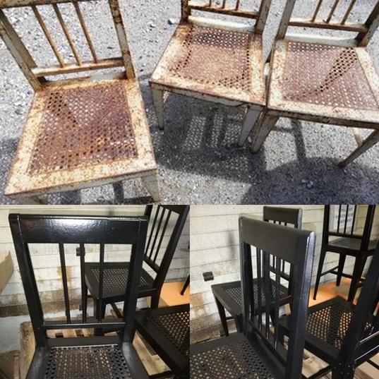 chaises acier