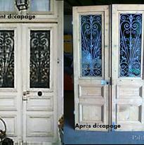 porte d'entrée ancienne en bois