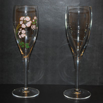 extraction de décors sur flûte de champagne