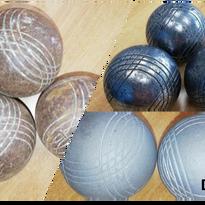 boules de pétanques striées