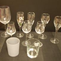 récupération en verre nu de verres