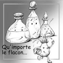 flacons de parfum, bouteilles, carafes, verres....