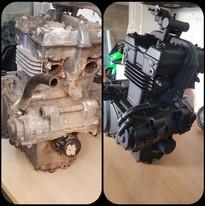 moteur de moto avant/après