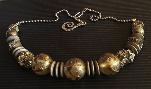 Vintage & Pyrite Necklace