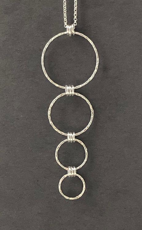 Sterling Silver OR Vermeil Hoop Necklace