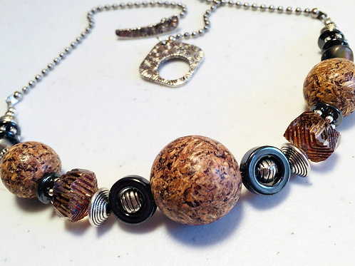 Recycled Wood Chip Necklace