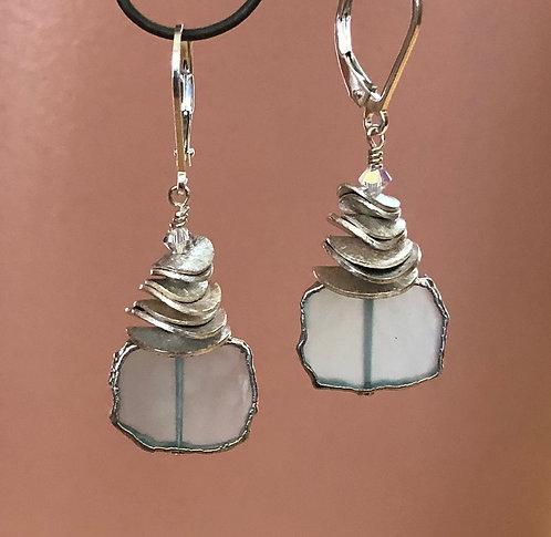 Chalcedony & Sterling Silver Earrings