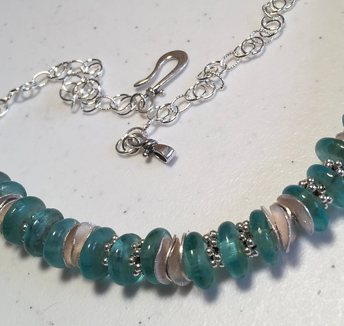Recycled Ghana Glass Bead Necklace