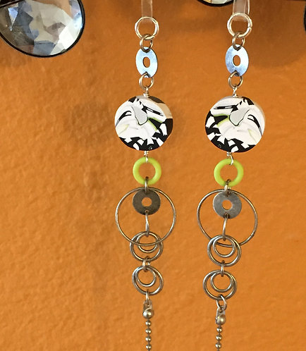 Eye Glass Leash - Lime Green Accents