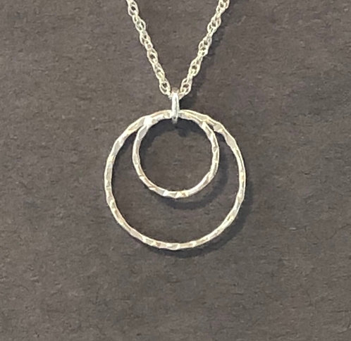 Simple Double Hoop Sterling OR Gold Fill Necklace