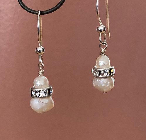 Pearl & Rhinestone Earrings