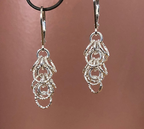 Sterling Silver Hoop Earrings -Two Lengths