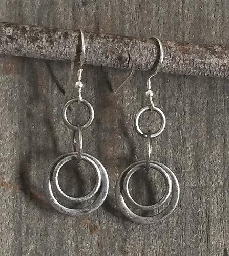 Antique Silver Brass Earrings