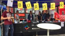 Ev. Jugendallianz mit Burgerstand auf dem Werdohler Stadtfest