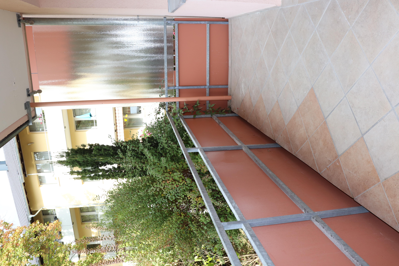 Balkon gefliest