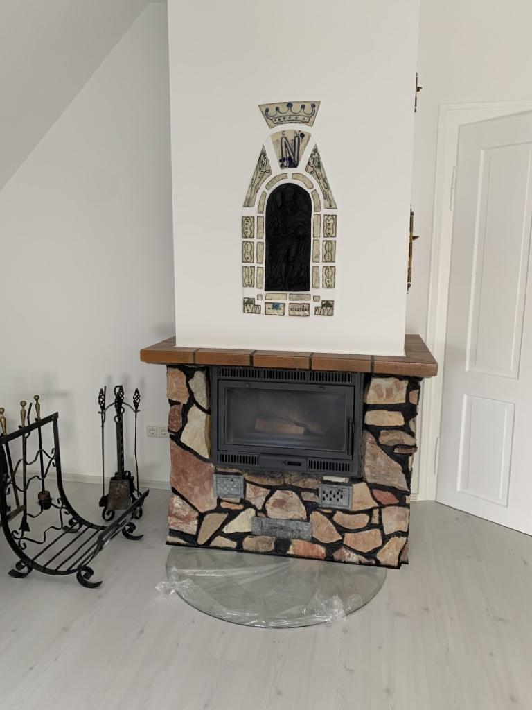 Modernisierter Kamin