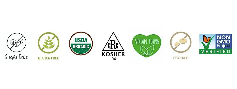 Covio products are sugar-free, gluten-free, Organic, Kosher, Vegan, Soy-free, and Non-GMO.