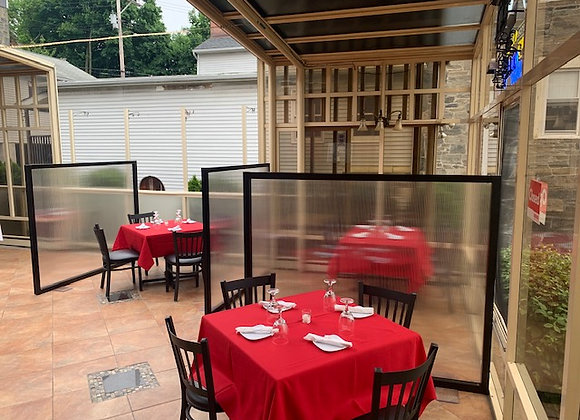 Restaurant Partitions 5' Wide x 3' Tall
