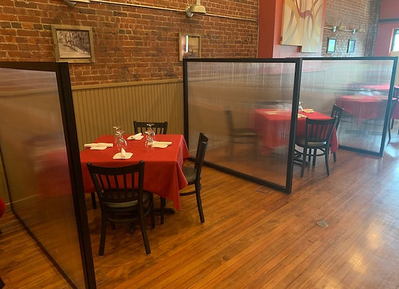 Restaurant Partitions 5' Wide x 4' Tall