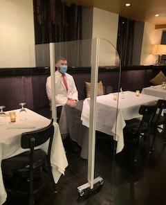 Rolling Restaurant Partition