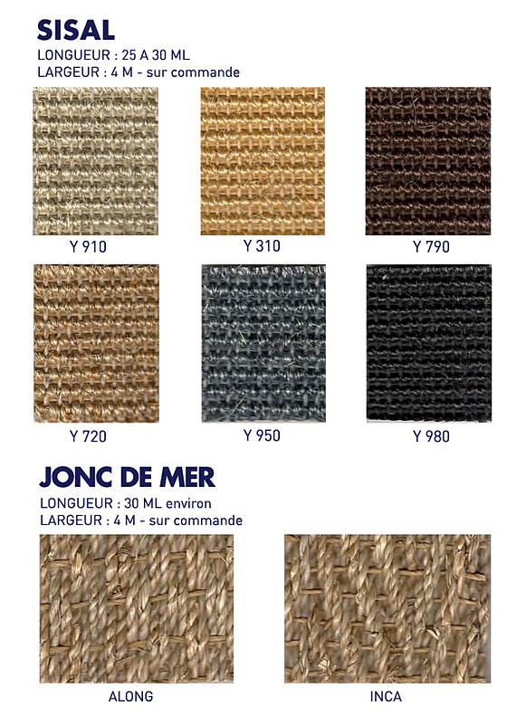 lammelin textiles sisal et jonc de mer. Black Bedroom Furniture Sets. Home Design Ideas
