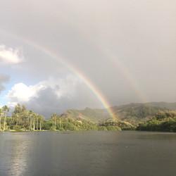 Double rainbow over Wailua River