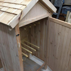 boot hanging shed