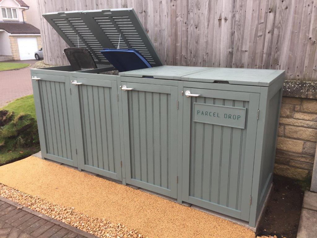 Bin shed open