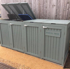 Bin shed with lid
