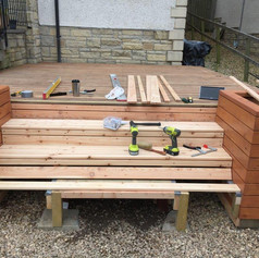 stair and planter build
