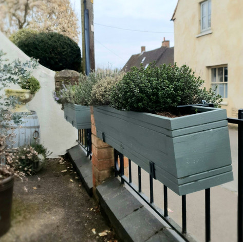 fence herb planter